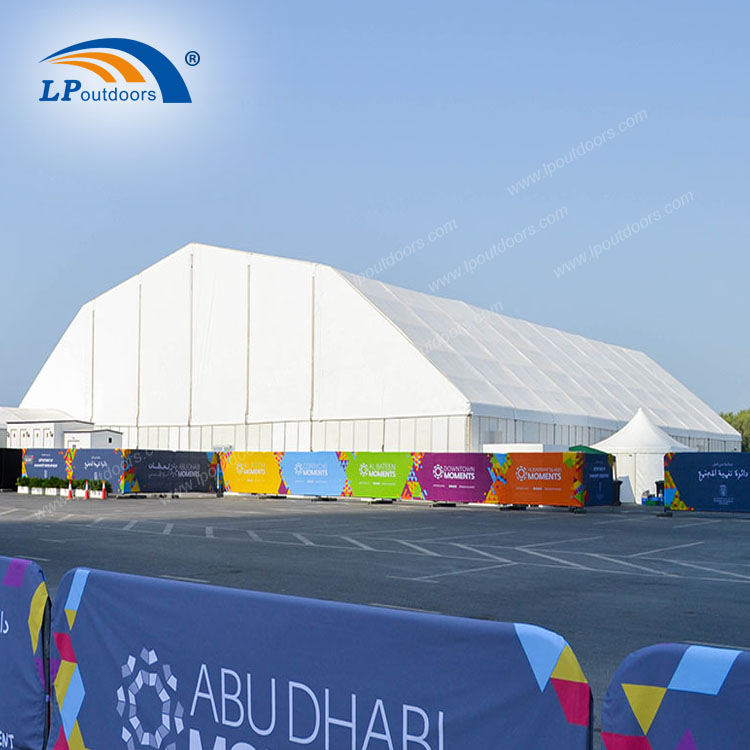 Outdoor polygon structure temporary stadium building for soccer court