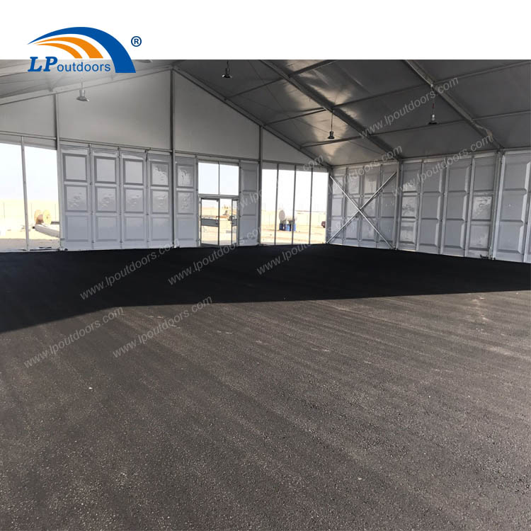 Luxury glass with ABS panel marquee temporary aircraft building for storage