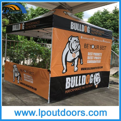 10X10′ Outdoor Half Sidewall Panel Display Canopy Tent
