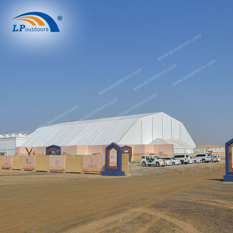 40x60m Aluminum polygon marquee temporary airplane building for warehouse industrial