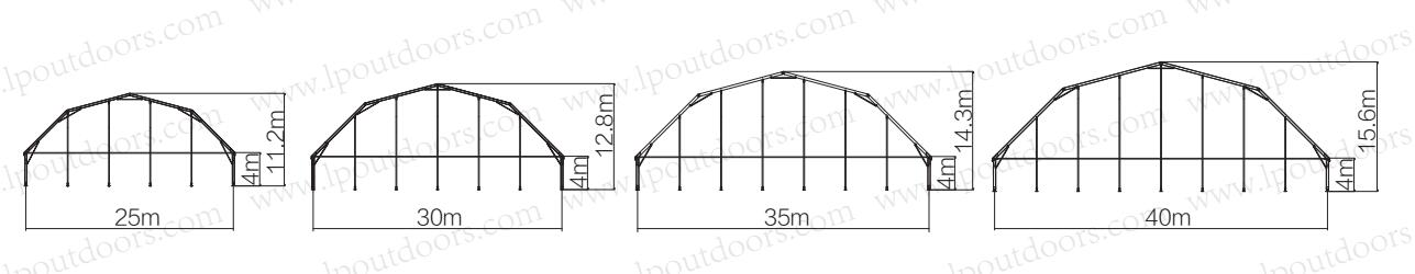 polygon roof party tent