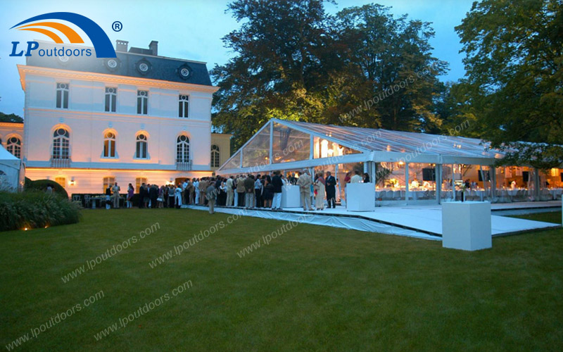 1000 Seater Luxury Transparent Outdoor Wedding Tent With Marquee Lining