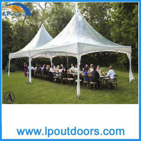 6X6m Outdoor Aluminum Clear Roof Spring Top Gazebo Tent