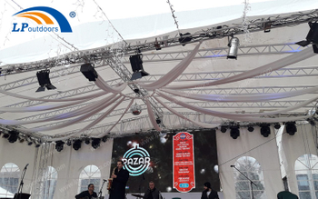15M Stage Lighting Truss For Event And 5x5M Aluminum Festival Pagoda Tent Makes Different Christmas And New Year's Day