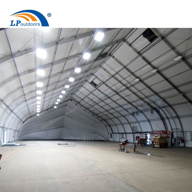 30m curved temporaty industrial building for aircraft