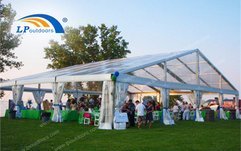 15M Clear Span Romantic Wedding Tent For Outdoors Marriage Ceremony Was Installed On The Grass
