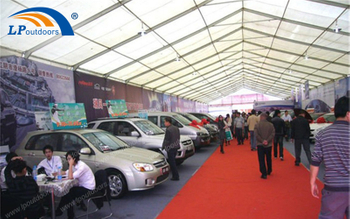 Trade Show Is Holded In Outdoor Exhibition Aluminum Car Tent
