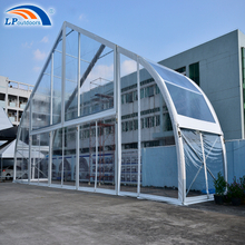 25M Clear Span Transparent Large Curve Marquee Tent Aircraft Hangar Exhibition Tent